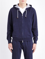 Brunello Cucinelli Zipped cotton-blend hoody