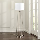 Crate & Barrel Stanza Nickel Floor Lamp