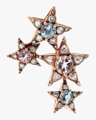Selim Mouzannar Singular Diamond and Aquamarine Earring