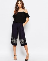 French Connection Casa Tile Embellished Culottes