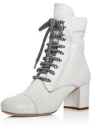 Miu Miu Women's Never Mind Block Heel Boots