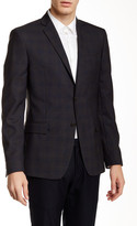 Versace Woven Two Button Notch Lapel Wool Jacket