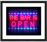"PTM Images The Bar Is Open Framed Giclee Art - 14""x16\"""