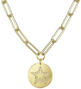 Rachel Reinhardt 14K Vermeil Enamel & Cz Pave Star Necklace