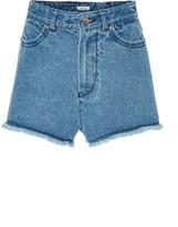 Manoush High Waisted Denim Shorts