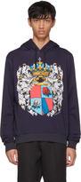 Dolce & Gabbana Navy Coat Of Arms Hoodie