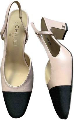 Chanel Slingback Pink Leather Heels