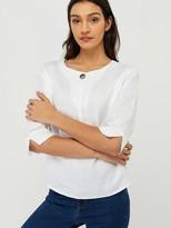 Monsoon ScarletLinen T-Shirt - White