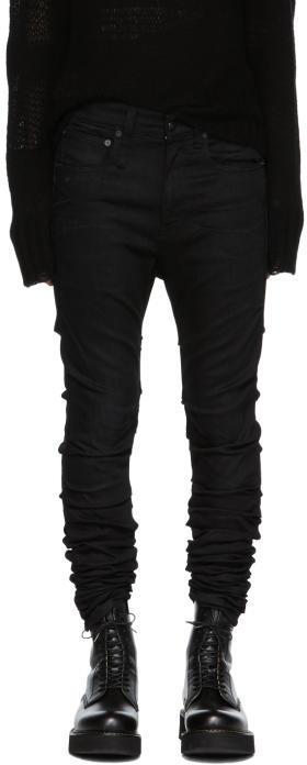 R 13 Black Skywalker Skinny Jeans