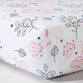 Circo Circo; Woven Fitted Crib Sheet - Navy n' Pink Flowers - Circo;