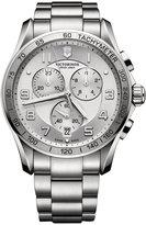 Victorinox Men's Chronograph Classic XLS Stainless Steel Bracelet Watch 45mm 241654
