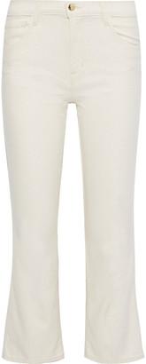 J Brand Selena Metallic Mid-rise Kick-flare Jeans