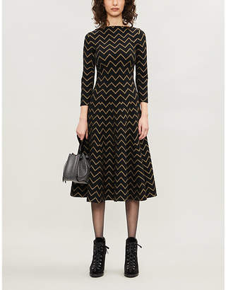 Alaia AZZEDINE Geometric pattern stretch-jersey dress