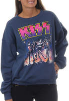 Asstd National Brand KISS Juniors' Group Shot with Neon Print VintageGraphic Sweatshirt
