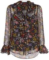 See by Chloe Floral Ruffle Blouse