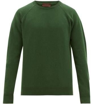 Altea Raglan Sleeve Wool Blend Sweater - Mens - Green