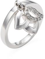 Piaget Women's Vintage 18K White Gold & Diamond Charm Ring