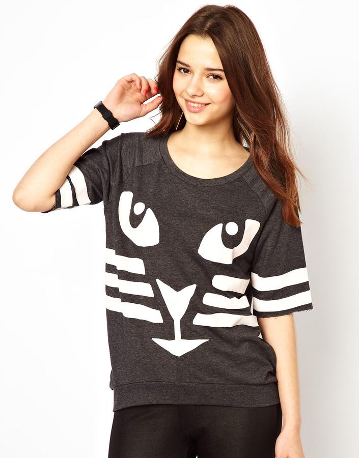 River Island Cat Sweatshirt