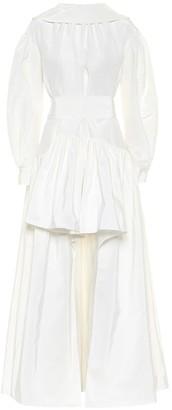 Alexander McQueen Asymmetric cotton-blend faille gown
