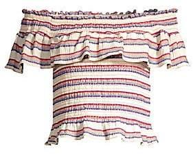 Parker Women's Lizette Off-The-Shoulder Stripe Top