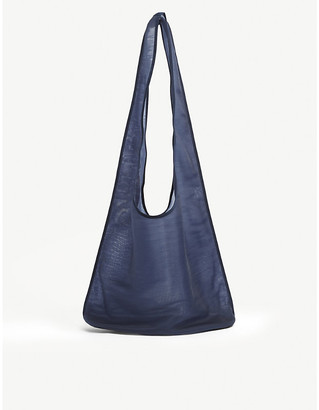The Row Bindle semi-sheer mesh hobo bag