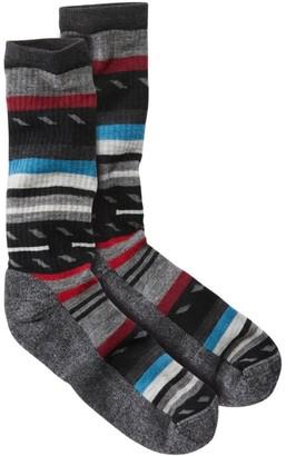 L.L. Bean Men's Smartwool Margarita Hike Light Crew Socks, Stripe