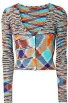 Missoni Ribbed Stretch-knit Cardigan - Orange