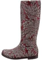 Dolce & Gabbana Girls' Brocade Knee-High Boots