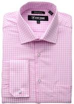 Stacy Adams Gingham Check Dress Shirt (Pink) Men's Clothing