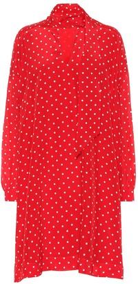 Balenciaga Polka-dot silk dress