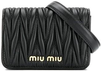 Miu Miu logo plaque belt bag