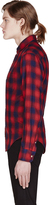 Band Of Outsiders Red & Navy Plaid Shirt