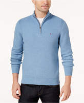 Tommy Hilfiger Men's Big and Tall Quarter-Zip Sweater