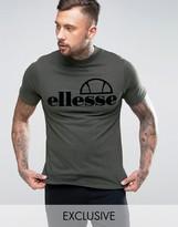 Ellesse High Neck T-shirt With Flock Logo