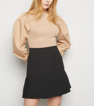 New Look NA-KD Pleated Chiffon Mini Skirt