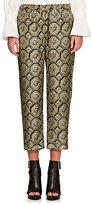 Burberry X Barneys New York Women's Octagonal-Print Silk Crop Pajama Pants-GREEN