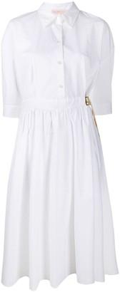 Tory Burch Belted Cotton Shirt Dress