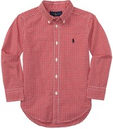 Polo Ralph Lauren Yarn-Dyed Poplin Long Sleeve Button Shirt (Little Kids/Big Kids)