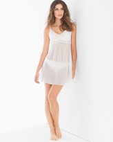 Soma Intimates Metallic Embroidered Chiffon Babydoll With Panty