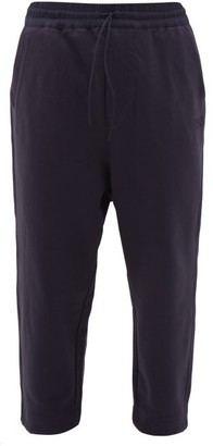 Y-3 Logo-print Cotton Track Pants - Navy