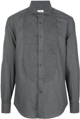 Brunello Cucinelli Pleated Woven Shirt