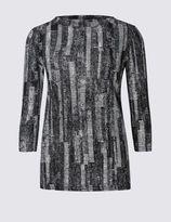 Marks and Spencer Mono Print Sweatshirt