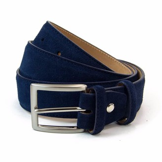 40 Colori Navy Trento Leather Belt