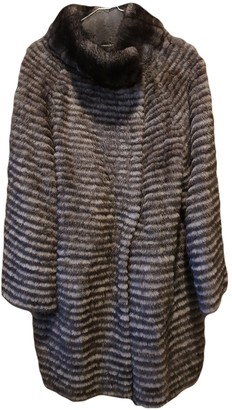Gerard Darel Grey Mink Coat for Women
