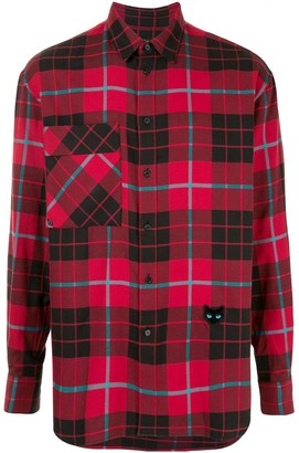 ZZERO BY SONGZIO Panther check pocket shirt