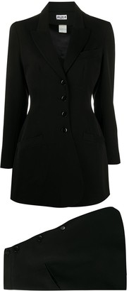 Alaïa Pre Owned Flared Skirt Suit