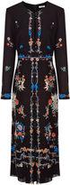 Vilshenko Black Floral Border Jerry Dress