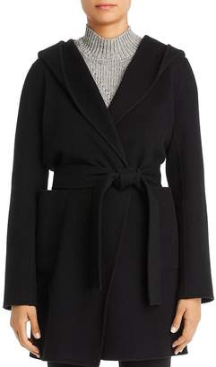 Elie Tahari Shea Hooded Wool-Blend Wrap Coat