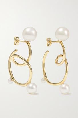Sebastian Buoy 10-karat Gold Pearl Earrings - one size
