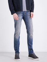 Paul Smith Mens Light Blue Contrast Stitch Concealed zip